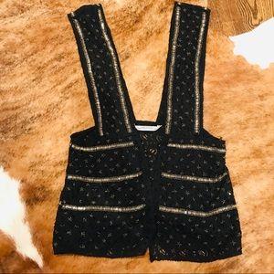 Zara beaded lace vest waistcoat